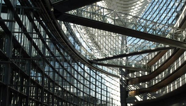 東京国際フォーラム ガラス棟内部