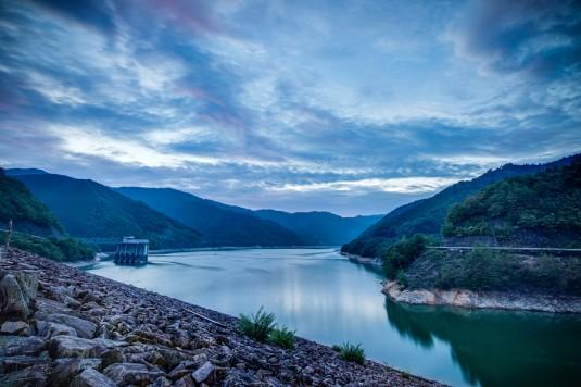 岩屋ダムの夕暮れ