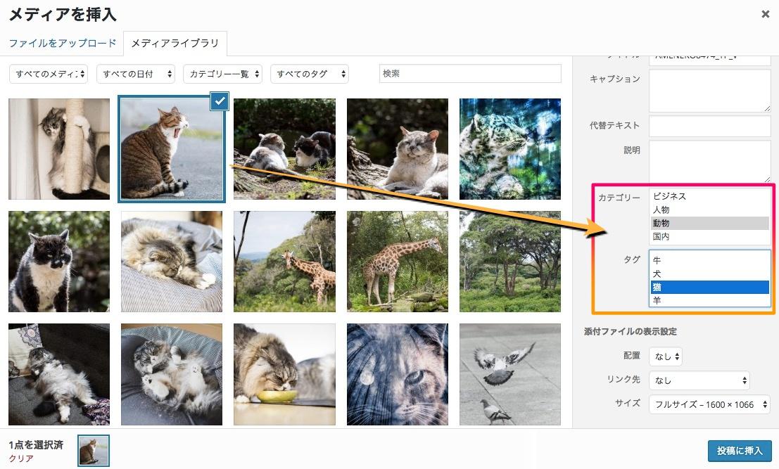 メディアライブラリにカテゴリーとタグを追加し写真管理をスムーズにするプラグイン「 Attachment Taxonomies 」
